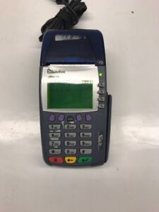 Verifone Omni 3750 Credit Card Reader Machine Terminal Dual Comm W Power