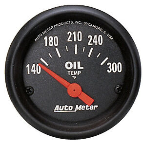 Auto Meter Z series Electric 140 300 Deg F Oil Temperature Gauge 2 1 16 52mm