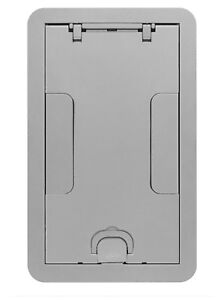 Hubbell 24gccvralu Recessed Gang Floor Box Cover 2 4g 11 5 8 X 7 3 8