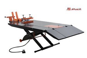 Apluslift 1500lb Air Op Motorcycle Atv Lift Table W Side Ex Mt1500x