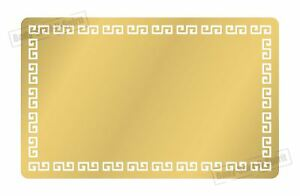 200 Blank Aluminium Brushed Gold Metal Business Cards Dye Sublimation Printing