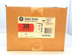 New Sealed General Electric Th2261dc Heavy Duty Fusible Safety Switch Ge