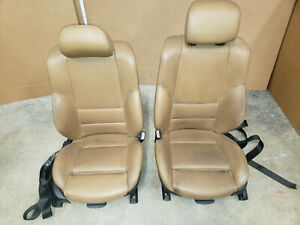 02 03 04 05 Bmw 745 750 760 E65 E66 Front Black Power Leather Seats Seat Heated