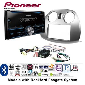 Pioneer Fh S500bt Double Din Car Cd Stereo Radio Install Kit Bluetooth