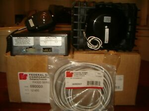 Federal Signal Pa300 12v Electronic Siren amp New Federal Signal As124 Speaker
