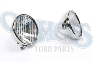 Ford Model A 1928 29 Headlights W Fluted Lenses 2 Bulb Reflector 6 Volt