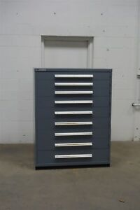 Used Vidmar 9 Drawer Cabinet Industrial Tool Storage Bin 45 Wide 1339