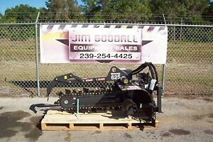 Skid Steer Trencher By Bradco 625 Digs 48 Deep 6 Wide 50 50 Rock Teeth Instock