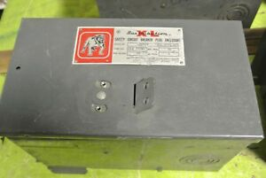Bulldog Xleh4100 Safety Circuit Breaker Plug Enclosure 600v 100a 4 pole