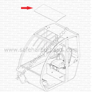 Genie 07 0723 0168 Telehandler Roof Glass