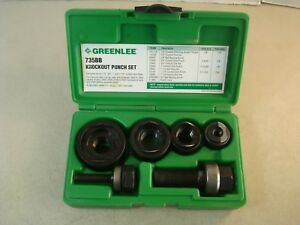 Greenlee 735bb Knockout Punch Set 1 2 3 4 1 1 1 4 New