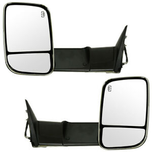 09 12 Ram Truck Power Heated Signal Puddle Light Mirror Left Right Side Set Pair