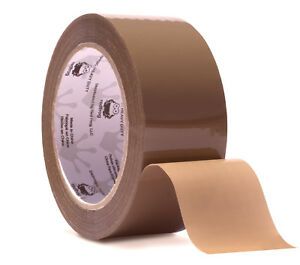 Red Frog 3 1mil 1 88 X 60 Yards Tan brown Low Noise Heavy Duty Packaging Tape