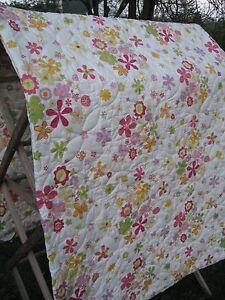 Awesome 100 Cotton Queen Full Floral Pattern Bed Spread 90 X 84