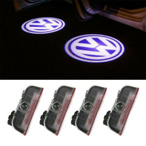 4x Led Car Door Welcome Laser Projector Logo Shadow Light For Valkswagen