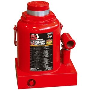 Torin Hydraulic Bottle Jack 30 Ton Heavy Duty Steel Construction Pressure Pump