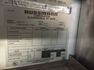 Hussmann Horizontal Refrigerated Open Display Merchandiser Self contained Cooler