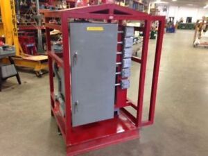 Used 75 Kva Step Down Transformer 12 Duplex 120v Outlets Power Distribution