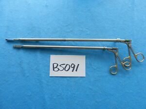 Wisap Surgical Laparoscopic 10mm Spring Handle Instruments Lot Of 2