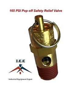 New 1 4 Npt 165 Psi Air Compressor Safety Relief Pressure Valve Tank Pop Off