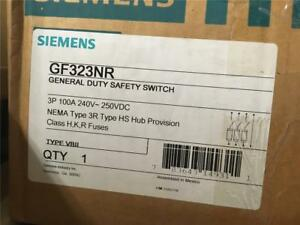 Siemens Gf323nr Type 3r 100 Amp 240 Volt Fusible Indoor Disconnect Safety Switch