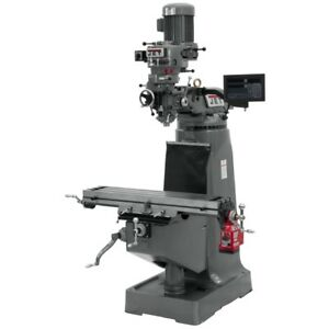 Jet 691198 Jtm 2 Mill With 3 axis Newall Dp700 Dro quill With X axis Powerfeed