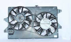 Dual Radiator And Condenser Fan Assembly Fits 95 00 Ford Contour Mystique Tyc