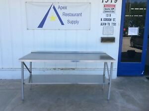 Stainless Steel 72 X 30 Work prep Table W under Shelf 3058