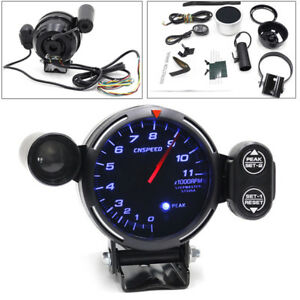 Hot Tachometer Gauge Kit Led 3 5 Auto Meter With Shift Light Stepping Motor Rpm