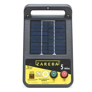 Solar Energizer 5 Mile Solar Low Impedance Charger 0 1 Joule Electric Fence New