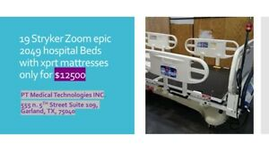 Stryker Zoom Drive Epic 2040 All Electric Hospital Patient Bed Lot Of 19