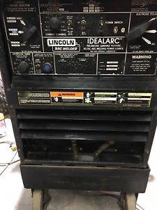 Lincoln Idealarc Arc Welder Model Tig 250 250 With Cart Variable Voltage Ac dc