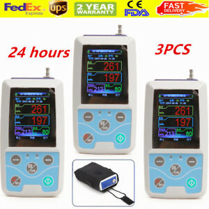 Ambulatory Blood Pressure Abpm Holter Nibp Mapa Monitor System With Free Cuffs