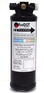 New Red Dot A c Receiver Drier 6 Male In 6 Female Out Side Port Part 74r3148