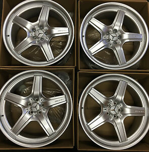 22 New Amg Mercedes Oem Wheels Rims Gl450 Ml Gls Gl550 Ml320 Ml500 Gl 2018 Set 4