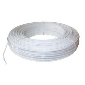 High Tensile Horse Fence Wire 1320 Ft 125 Gauge White Safety Coated Livestock