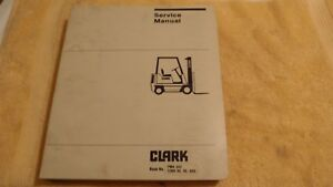 Clark Pma345 C300 40 50 Gas Service Manual Forklift Book free Shipping