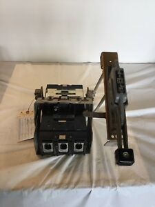 Square D Molded Circuit Breaker Cat Lal36300 With Box On Off Handle
