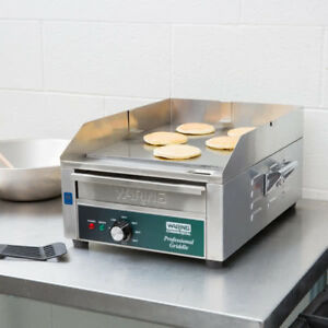 17 Waring Electric Stainless Steel Commercial Countertop Flat Top Griddle 120v