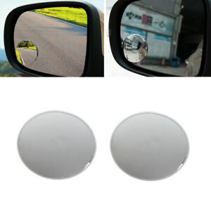 1 Pair 360 Frameless Wide Angle Round Convex Blind Spot Rearview Mirror