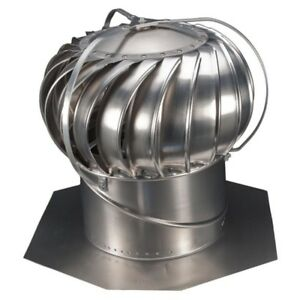 Externally Braced Wind Powered Roof Turbine Energy Saving Aluminum 12 In Mill