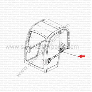 Jcb 331 47195 Mini Excavator Upper Door Glass