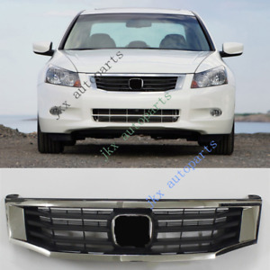 Chrome Front Bumper Oem Center Grille K Grill Repalce For Honda Accord 2008 2010