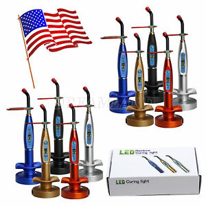 10sets Dental Cordless Led Cure Curing Light Lamp Holder Charger Fiber Rod Ystx
