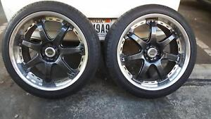 Pair 2pcs Only Of Volk Racing Gt 7 By Rays 19x8 5 30
