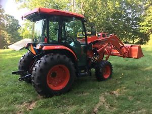 2014 Kubota L5460 4x4 With Cab Loader Front Aux 345 Hrs nice