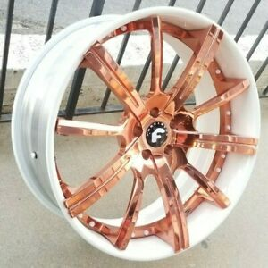 24 Rose Gold Forgiato S220 Ecl Concaved Wheels Rolls Royce Ghost Wraith Dawn