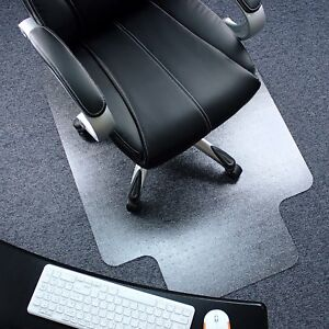 Computer Chair Mat 36 X 48 Polycarbonate Lipped For Carpets Floor Transparent