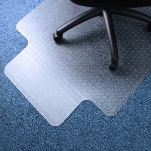 Computer Chair Mat 36 X 48 Vinyl Lipped Floor Protector For Low Pile Carpets