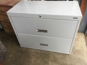 Lateral 2 drawer File Cabinet Used Nice Shape For Hanging File Folders